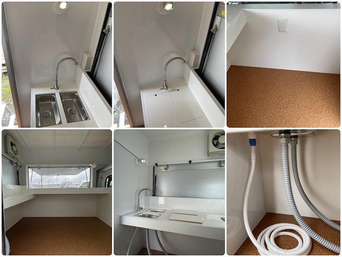 軽トラックのキッチンカー(フードトラック)内装工事画像