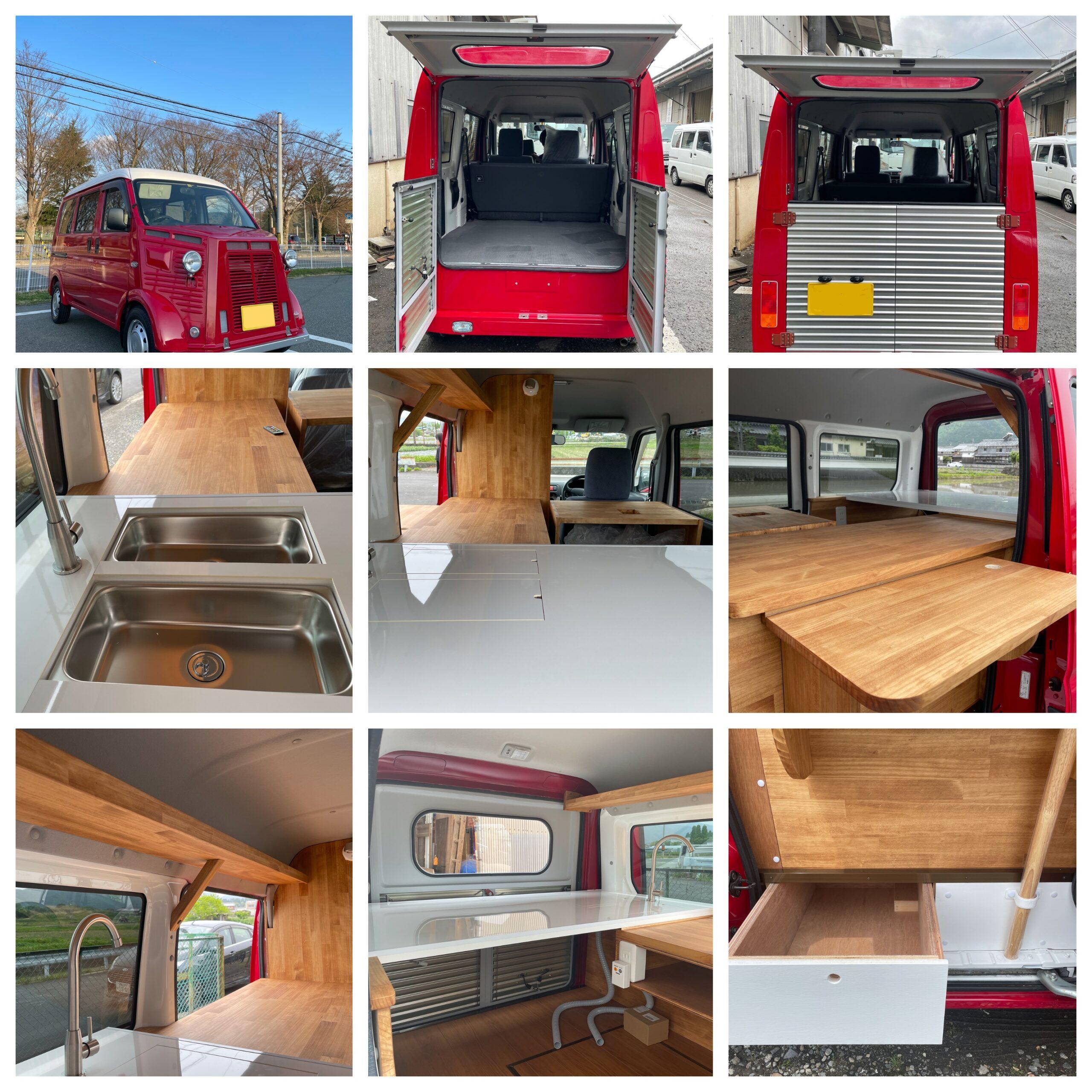 シトロエンHバンスタイルのキッチンカー(フードトラック)